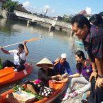 Tukad Badung di Kawasan Taman Pancing Dijadikan Pasar Terapung